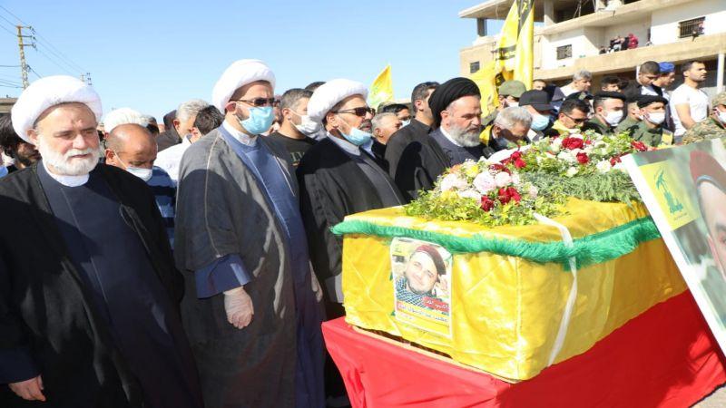 حزب الله واهالي بلدة النبي شيت شيعوا الشهيد المجاهد علي محمد الموسوي