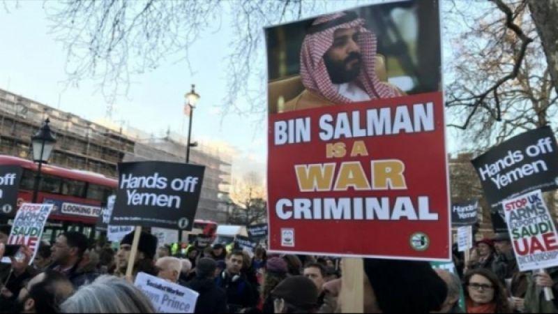 أكبر تظاهرة في لندن تُندّد بجرائم العدوان السعودي على اليمن