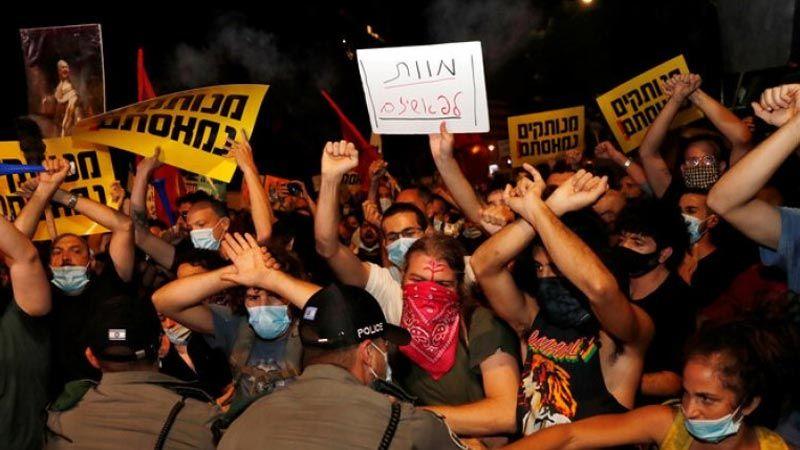 الاحتجاجات المُعارضة لنتنياهو مستمرة ومواجهات مع شرطة الاحتلال