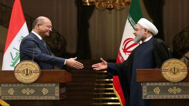 روحاني وصالح .. لتعزيز العلاقات بين طهران وبغداد وتنفيذ الإتفاقياتالموقعة