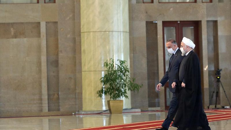 روحاني والكاظمي يؤكدان فتح آفاق جديدة من التعاون بين البلدين