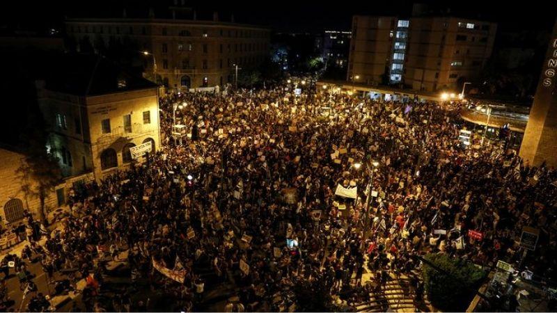 بالصور .. تظاهرات حاشدة ضد نتنياهو تطالبه بالاستقالة