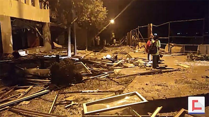 """""""العهد"""" يوثق الأضرار جراء إنفجار مرفأ بيروت"""