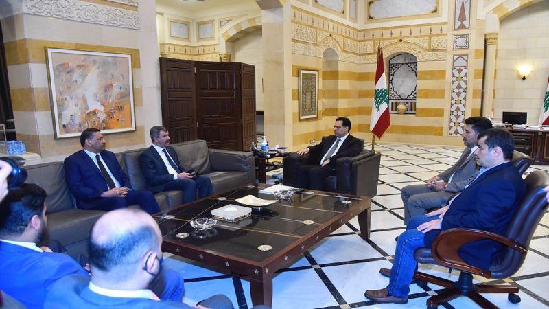 الرئيس دياب استقبل وفدا عراقيا واطلع منه على التقديمات النفطية والطبية للبنان