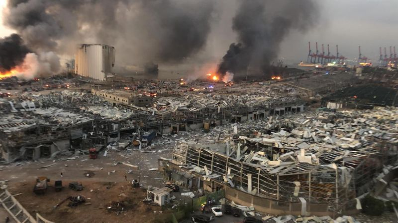 بدء وصول المساعدات إلى لبنان على إثر كارثة المرفأ