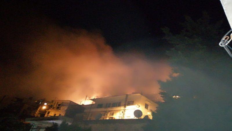 بالصور .. حريق كبير في خراج بلدة مشغرة