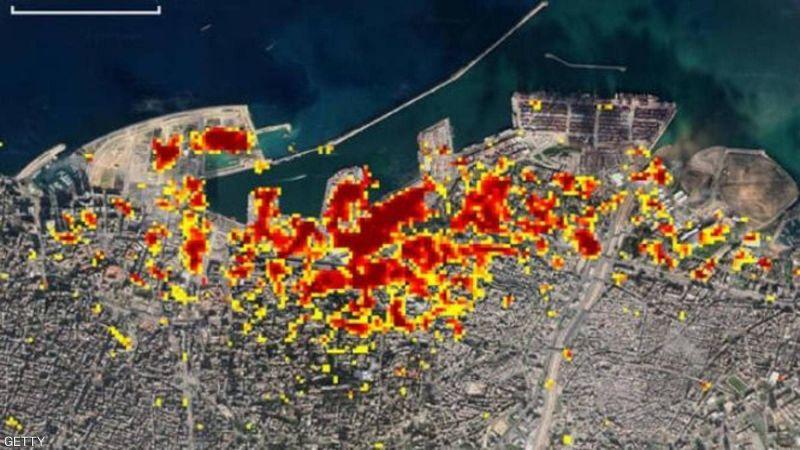 """صورة لـ """"ناسا"""".. هذا حجم كارثة انفجار مرفأ بيروت"""