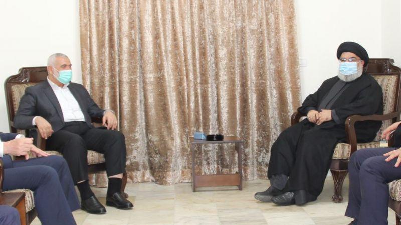 السيد نصر الله التقى هنية: تأكيد على ثبات محور المقاومة وصلابته والآمال الكبيرة المعقودة عليه