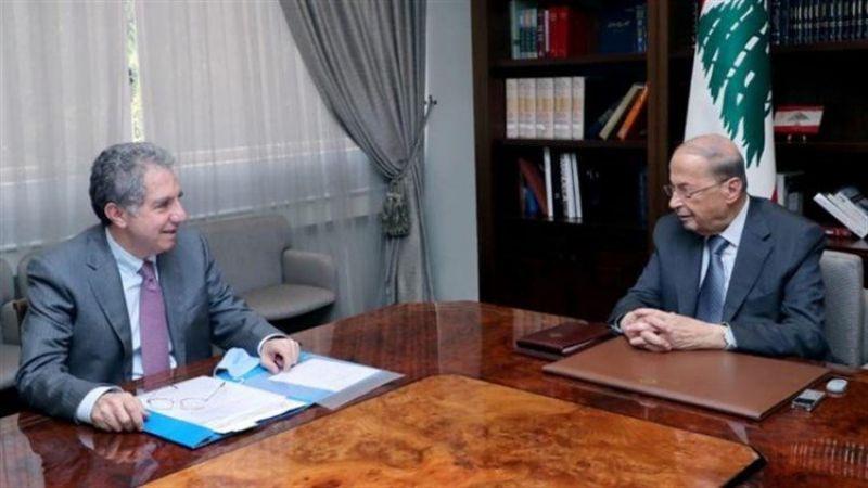 رئيس الجمهورية بحث مع وزير المال في عقد التدقيق الجنائي