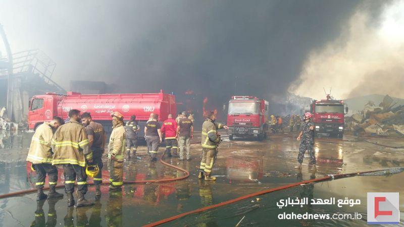 بالتفاصيل .. هكذا شارك فوج اطفاء الضاحية في اخماد حريق المرفأ
