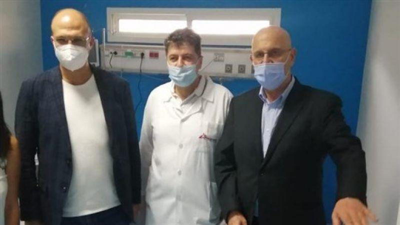 """وزير الصحة افتتح القسم الخاص بـ""""كورونا"""" في مستشفى بر الياس"""