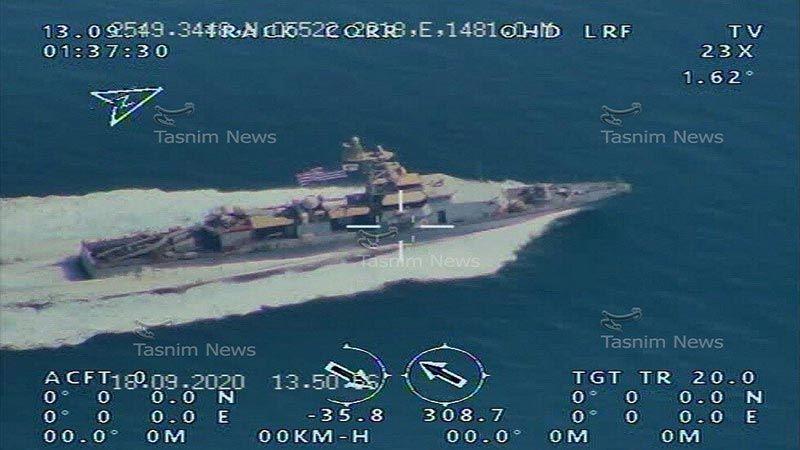 هكذا رصد الحرس الثوري حاملة الطائرات الأمريكية عند مضيق هرمز