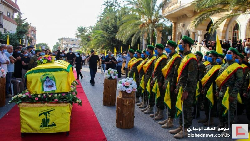 حزب الله يُشيّع الشهيد علي نجيب مروّة في الزرارية