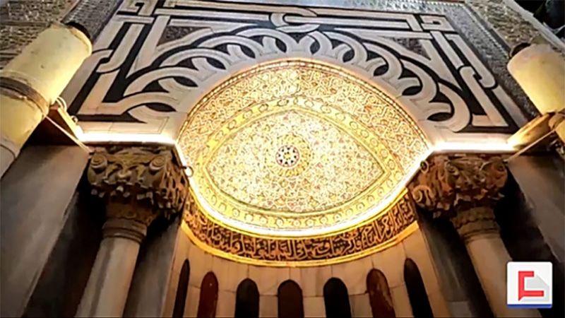 زخارف الحرم الابراهيمي بصمات تروي التاريخ الاسلامي