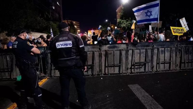 شرطة الاحتلال تقمع تظاهرات تطالب باستقالة نتنياهو