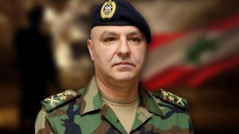 قائد الجيش يوجّه لانطلاق عملية التفاوض بشأن ترسيم الحدود البحرية