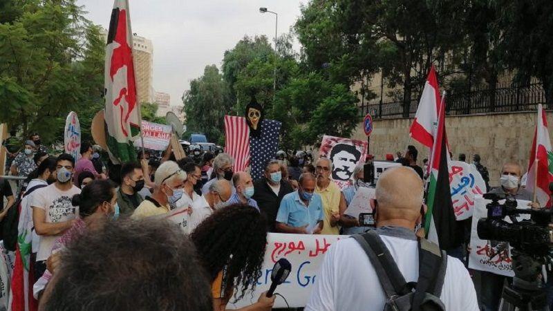 اعتصام أمام السفارة الفرنسية للمطالبة بالإفراج عن جورج عبدالله