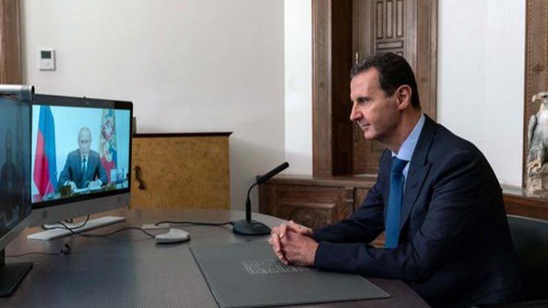 الأسد خلال اتصال مع بوتين: المؤتمر الدولي لعودة اللاجئين بداية لحل هذه المسألة الإنسانية