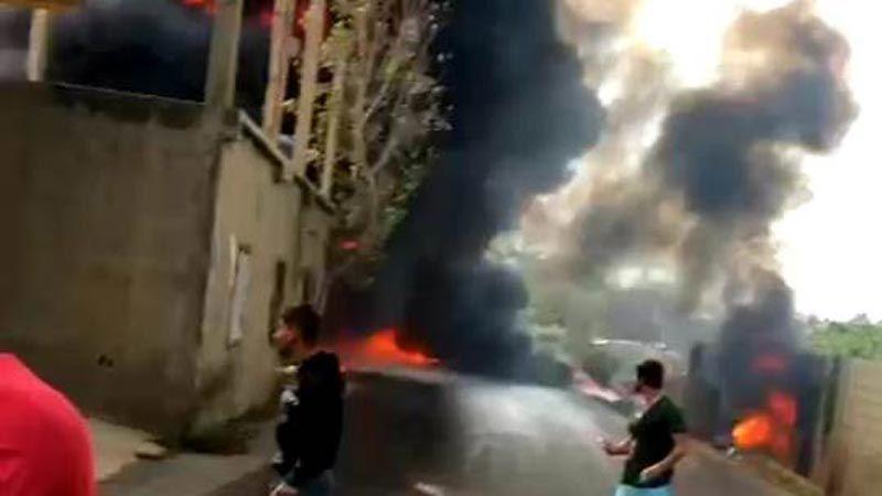 حريق كبير جراء اعتداء على خط أنابيب البترول في سهل عكار