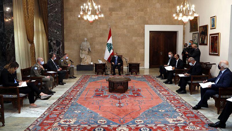 الرئيس عون: نأمل أن تثمر مفاوضات ترسيم الحدود ليسترجع لبنان حقوقه