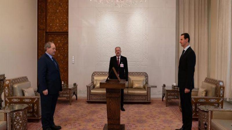 المقداد يؤدي اليمين الدستورية وزيرًا للخارجية السورية