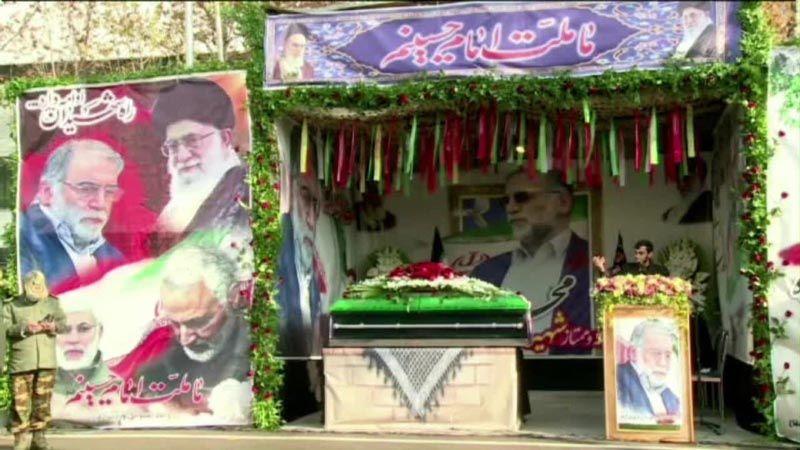 تشييع الشهيد فخري زاده بحضور قادة إيران العسكريين