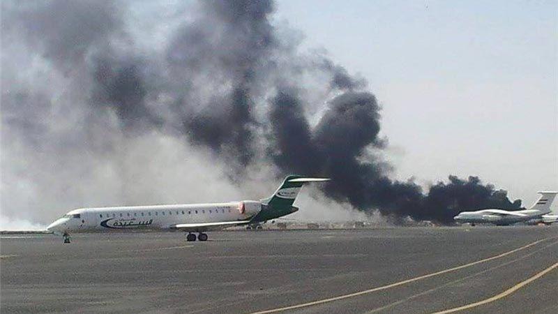 العدوان يستهدف مطار صنعاء المحاصر ويُضيّق على ميناء الحديدة