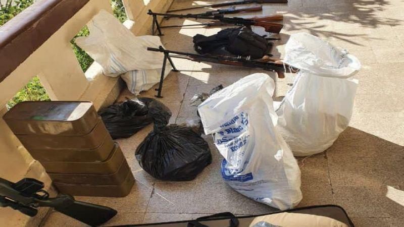 الجيش: دهم محل في طرابلس بداخله مخزن يحتوي كمية كبيرة من الأسلحة