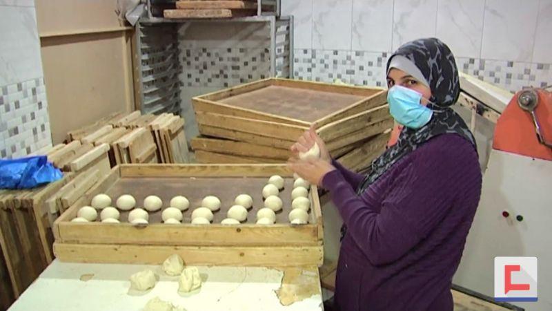 ربى أبو العيش.. أول سيدة تُدير مخبزًا في غزة