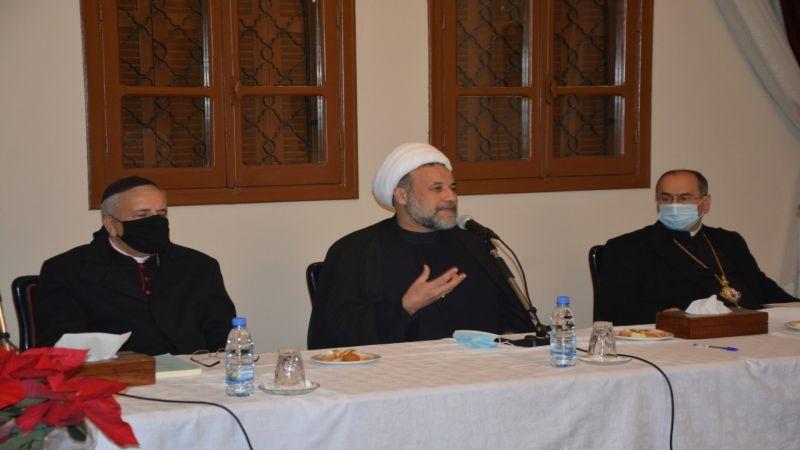 حزب الله ومركز الإمام الخميني الثقافي نظما ندوة فكرية ميلادية في مطرانية صيدا للموارنة