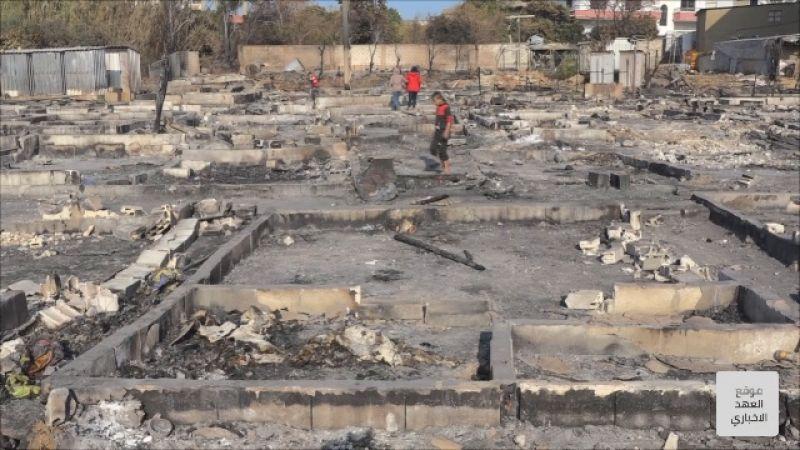 الحكومة السورية إلى جانب النازحين المتضررين بحريق المنية