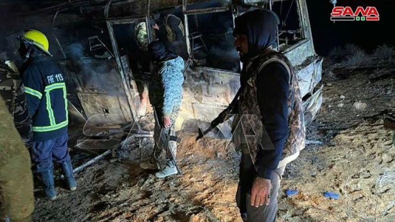 سوريا: 25 شهيدًا و13 جريحًا في هجوم إرهابي على طريق دير الزور - تدمر