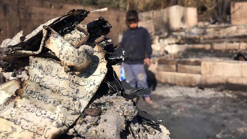 بعد احراق مخيمهم في المنية.. النازحون: لتأمين عودتنا الى سوريا