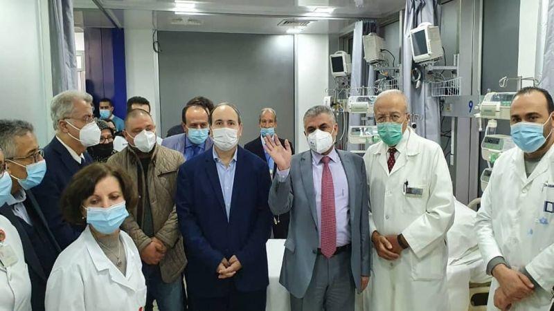 قسمٌ للعناية الفائقة الخاصة بكورونا في مستشفى الدلاعة بصيدا