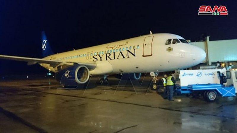 بعد استئناف العمل فيه.. مطار حلب يستقبل أول طائرة قادمة من بيروت