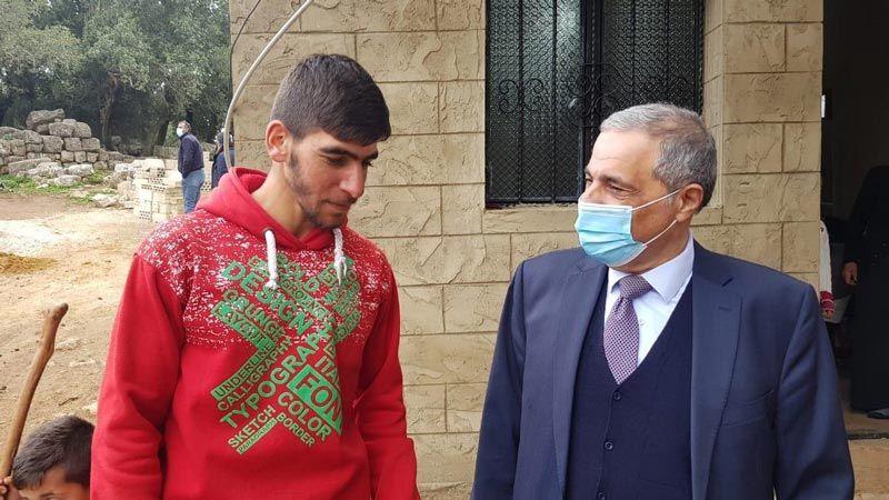 هاشم زار المحرَّر حسن زهرة في مزرعة بسطرة: ممارسات العدو تقوض استقرار لبنان