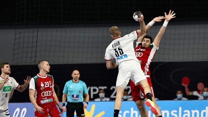 منتخب المجر يهزم المنتخب الالماني في مونديال كرة اليد