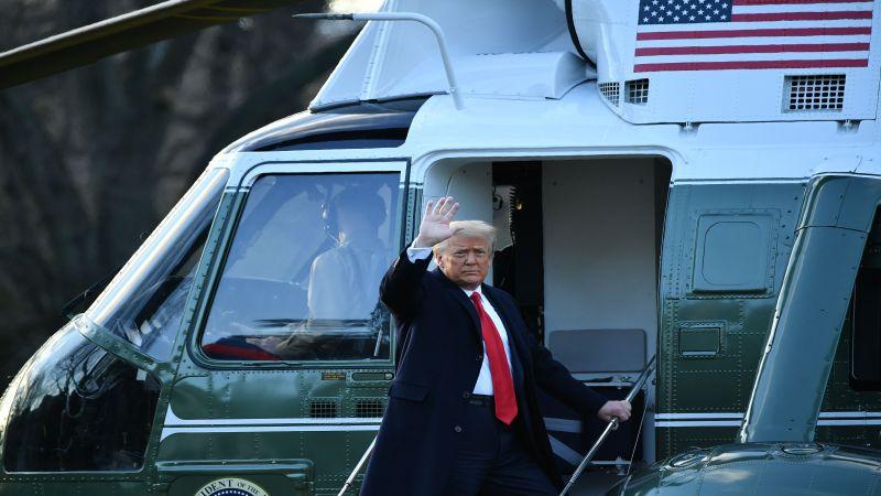 هكذا غادر ترامب البيت الأبيض
