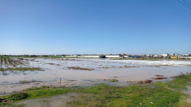 الاحتلال يُغرق الأراضي الزراعية شرق غزة