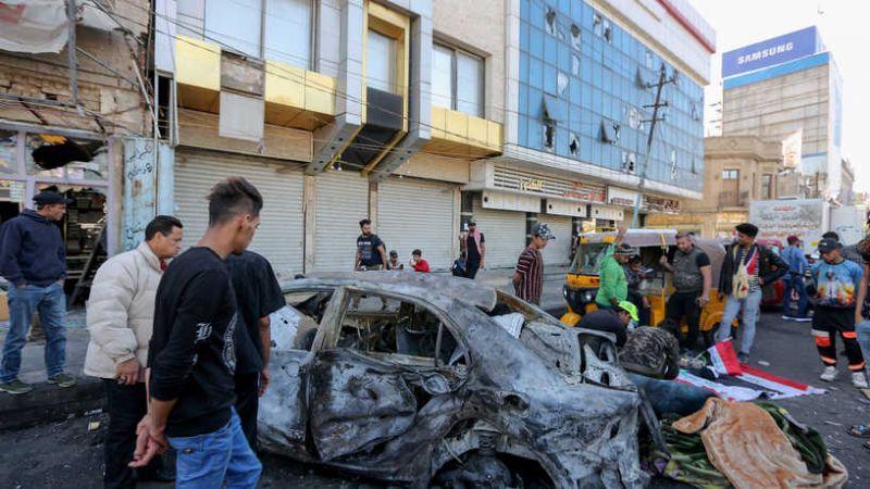 32 شهيدًا وعشرات الجرحى في تفجير إرهابي مزدوج في بغداد