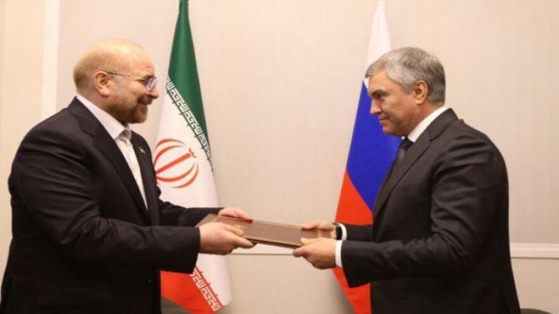فيديو.. قاليباف ينقل رسالة من الإمام الخامنئي إلى بوتين
