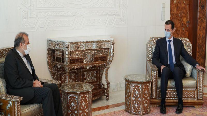 الرئيس السوري يستقبل كبير مساعدي وزير الخارجية الإيراني ويؤكدان استمرار عمل لجنة مناقشة الدستور