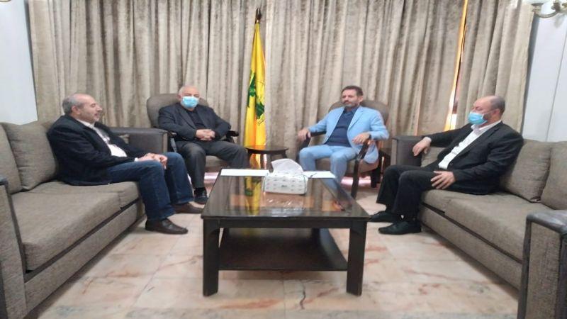 """حزب الله استقبل وفدًا من """"الجهاد الإسلامي"""": تأكيد على حشد كل الطاقات لتحرير فلسطين"""