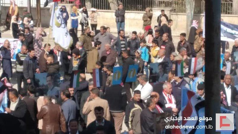 أهالي الحسكة للأسد: معك