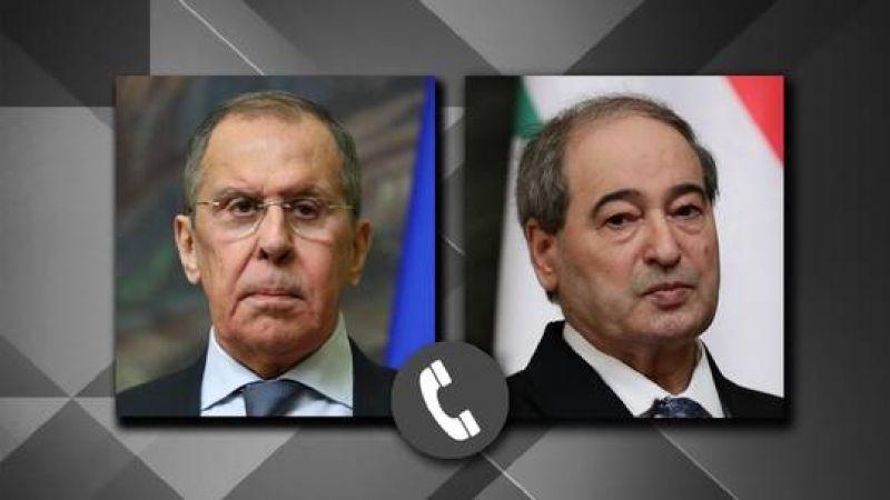 المقداد ولافروف يؤكّدان على استمرار التّنسيق والتّشاور بين سورية وروسيا على كل المستويات