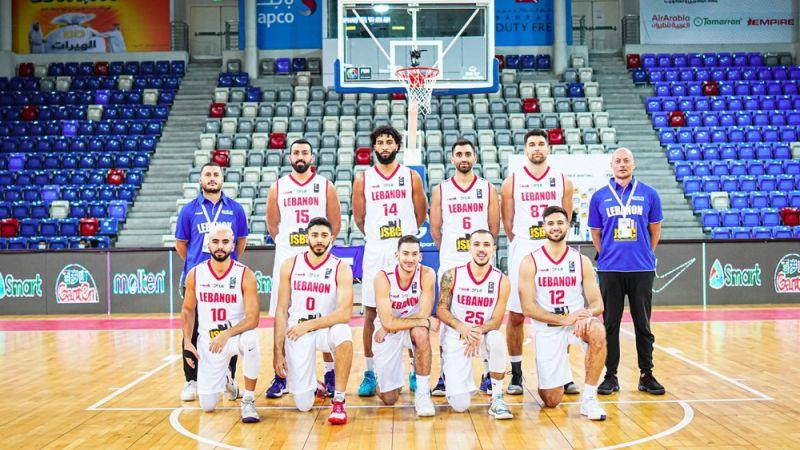 """""""سلة لبنان"""" تختتم التصفيات الآسيوية بفوز سادس متتالٍ"""