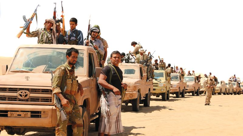 """تقدم ميداني كبير للجيش اليمني في جبهة """"العلم الأبيض"""" شمال مدينة مأرب"""