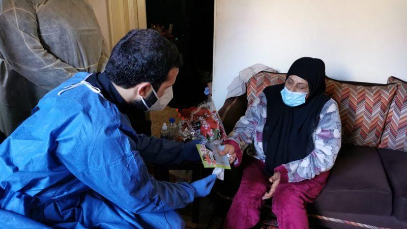 في الغازية.. هكذا عايد متطوعو الهيئة الصحية مرضى كورونا بمولد الإمام علي (ع)