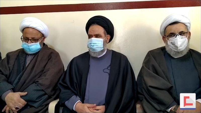 وفد من حزب الله ممثلًا السيد نصرالله عزّى بفقيدي الجهاد والمقاومة ملحم وقمر