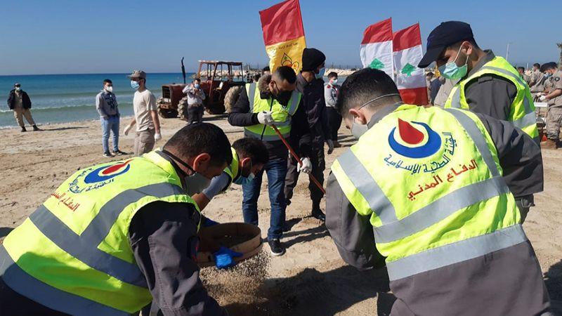 """حملة تنظيف للشاطئ الجنوبي من التلوث """"الإسرائيلي"""".. من العباسية حتى الناقورة"""